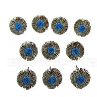 Wholesale New pc Flap Wheels Disc Set Sanding Sandpaper Grit For Power Rotary Tools Y102