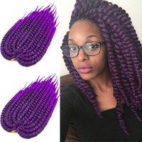 Wholesale 2x havana mambo crochet rope twist braids kanekalon fiber inches crotchet senegalese braids packs