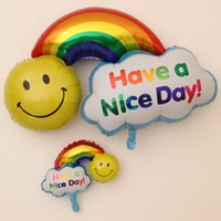 air foil design - 20pcs Smile Face Rainbow Design Air Balloons Party Decoration Foil Balloons Children Birthday Party Helium Balloons Gift Toy