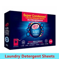 Wholesale 2016 Hottest Super Condensed Laundry Detergent Sheets with Germany Nano Technology no phosphor no harmful chemicals DHL Fedex Free Ship