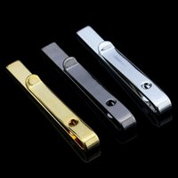 Wholesale Fine Jewelry Men s Accessories Formal Classy Simple Colors Tie Bar Clasp Clip Pin Men Rhinestone Business Small Ties Clips