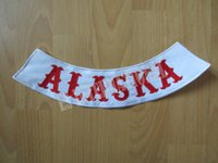 alaska for sale - original bottom rocker hells big sale Embroidery Twill Biker Patches for Jacket Motorcycle Club MC quot ALASKA quot