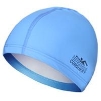 Wholesale 2016 New Swimming Cap PU coating Swim Caps Protect Ears Long Hair Sports Swimming Pool Hat Adults Men Women Bathing Caps WaterProof