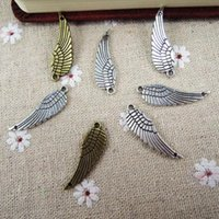 Wholesale mm Metal Alloy Antique Bronze Silver Plated Feahter Charms For Bracelets DIY Jewelry Craft Findings ZN