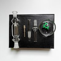 best gift box - 10mm Micro Nectar Collector NC Kit with Glass tip titanium nail WITH EXTRA QUARTZ TIP choose water smoking pipe Glass Bong Bongs best