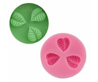 Wholesale retail hole leaf shape silicone cake mould polymer clay moud Chocolate Mold