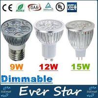 Wholesale CREE W W W Led Spot Bulbs Light E27 E26 B22 MR16 GU10 Led Dimmable Lights Lamp AC V V