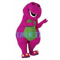 Mascot Costumes barney dresses - Best Barney Dinosaur Mascot Costume Cartoon Party Dress Adult