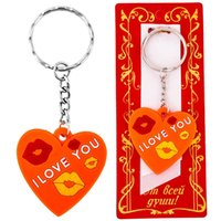 bamboo symbols - Cute keychain Plastic key chain ring for key heart shape keyring quot i love you quot symbol of the valentine s day keychain