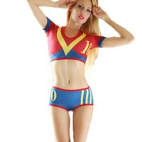adult soccer - Newest Football Baby Costume Sexy Soccer Cheeleader Costume Adult Women s Sexy Sports Erotic Lingerie Disfraces Mujer