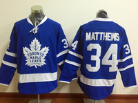Cheap Newest Maple Leafs Jersey #34 Matthews Hockey Jerseys Blue Color Size 48-56 Stitched High Quality Cheap Price #17 #21 Mix Order All Jerseys