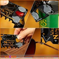 Cheap 18 in 1 Credit Card Hand Tools Best Multi-Function Portable Wallet Knife