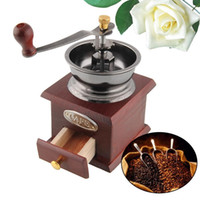 Wholesale Quality Mini Wood Metal Manual Hand Operation Coffee Bean Grinder mill Drawer Hot New