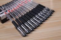 Wholesale Hot Selling Box mm Black Gel Ink Rollerball Ballpoint Pen Writing Pen Stationery Office School Supplies