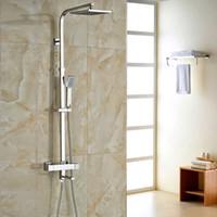 bath faucet brands - Brand New Chrome Thermostatic Water Shower Faucet Set Bath Tub Shower Mixers with Handshower quot Rain Showerhead