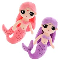 50cm 20inch Hot Sale One Piece Cute Mermaid Peluche Jouets PP Alu de couchage en coton superbe Super Beautiful Dolls Girlfriend Gift 4 Couleurs