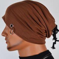 Beanie/Skull Cap adjustable iron golf - 2016 Fashion Men Women Hip hop Warm Head Wrap Iron Hoop Winter Hats for Women Beanies Caps Knitted Hats Skullies Beanie MZ0055