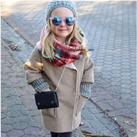 add outerwear kids - 2016 New Boutique Kids Children Clothing European Suede Add Wool Thicken Baby Outerwear Girls Winter Coats Jackets for T