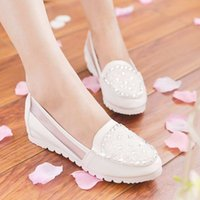 Wholesale 2016 new spring and summer in shallow mouth shoes increased flat shoes with flat mesh diamond head low with cool shoes