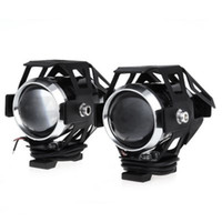 Wholesale 2pcs U5 LM W Upper Low Beam Motorcycle Headlight LED Motorbike Spot Lamp for for motorcycle scooter and off road vehicle