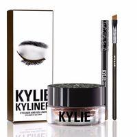 Wholesale Kylie Gel Eyebrow Liner Kit Kylie Jenner Kyliner In Black With Eyeliner Gel pot Brush set eyeliner brush cream MR214