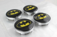 Wholesale CAR STYLING mm Bat Logo Wheel Center Cover Hub Cap silver cap theme silver belt buckle ring