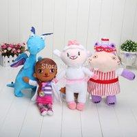 doc mcstuffin - 28 cm Doc McStuffins doll plush toys McStuffin Lambie sheep Hallie The Hippo Dragon cute plush soft animals dolls for kids