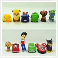Wholesale 12pcs set Paw Dog PVC Toys Children Kids PVC Dolls Poppy Dog Toy Fireman Sam Patrol PVC Toys