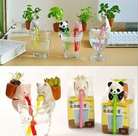 cheap diy self watering fromanimal straw animal tail absorbent office desktop flowers plants small cap cheap office plants