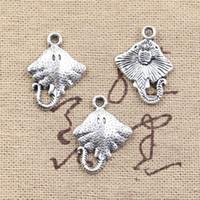 antique fish pendant - 120pcs Charms stingray fish mm Antique Making pendant fit Vintage Tibetan Silver DIY bracelet necklace