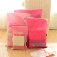 Wholesale 100PCS Waterproof Translucent Ziplock Organizer Packing Bags Clothes Underwear Bra Shoes Storage Bag Travel Wash Protect Cosmetics Bags