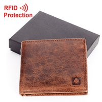 barrel t shirt - f1 t shirts RF100 new stylish RFID BLOCKING Men wallet genuine cow Leather Bifold Purse with coin pocket RFID protection wallet mens