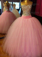 Wholesale 2016 New Real Image Ball Gowns Long Quinceanera Dresses With Bow Lace Up Formal Prom Party Quinceanera Gowns