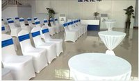 Wholesale Hotel chair cover thickening of conjoined wedding chair cover large elastic banquet chair for white chair cover Can be customized