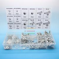 Wholesale 475PC Screws Hex Nuts Screws Flat Washer Lock Washer Spring washer Pan head Bolt Kits set order lt no track