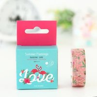 Wholesale 2016 Bentoto House and tape the Flamingo summer DIY hand tear tape M A COLOR BOX PACKING W JD