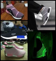 Wholesale 2016 nmd city sock cs1 Running Shoes For Women Men Pink Black High Cut Noctilucent Sneakers Lightweight Outdoor Athletic Sports Shoes