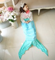 Wholesale The new foreign trade children s sleeping bag shark mermaid sleeping bag double crystal wool warm baby