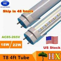 led super bright - Stock in US ft mm T8 Led Tube Light High Super Bright W W W Warm Cold White Led Fluorescent Bulbs AC110 V FCC