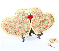 alternatives set - Wedding Guest book Personalized Drop Top Drop box Wedding Alternative Guest Book Hearts Wedding Guestbook Alternative CM CM Hearts