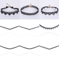 Wholesale Hot Selling Women Charm Black Lace Choker Fashion Jewelry Accessories Several Styles Pieces Necklaces New Wholesales In Stock NICE