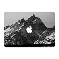 Wholesale Black Moutain Scenery Top Vinyl Front Cover Laptop Sticker For Apple Macbook Air Pro Retina inch Laptop Decal Skin