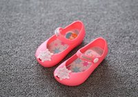 Wholesale 2016 Mini Melissa Girls Sandals kids shoes frozen Baby beach shoes Jelly shoes Cinderella s glass slipper D99