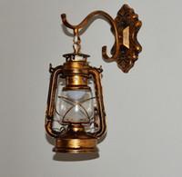 antique lanterns - antique Copper Vintage Lantern Wall Lamp Personalized Kerosene Lamp Fashion Iron Wall Lights Cafe aisle lights