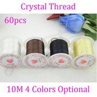 Wholesale rolls spools mm m Crystal Elastic Stretchy String Thread Hair Extension Thread Wires