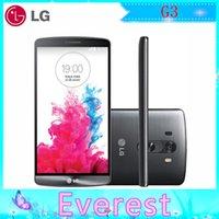 Wholesale Original Unlocked LG G3 D850 D851 GPS MP mAh GB ROM GB RAM QuadCore G LTE Bluetooth GPS WIFI Refurbished Smartphone