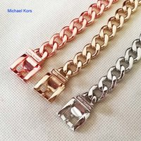 Wholesale Famous Brand Design Bijoux Gold Bracelets Bangles Trendy Jewelry For Women And Men Cuff Link Chains cm