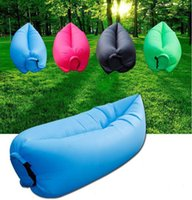 Wholesale Hot New New Outdoor Portable Convenient Inflatable Lounger Air Sleeping Bag Polyester Air Sleep Sofa Couch