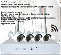 Wholesale 4ch MP WiFi NVR P2P ch recording ch playback MP H Wireless IP Camera IR LEDs IR distance M mm Lens