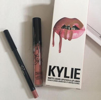 Wholesale Newest Kylie Lip Kit by Kylie jenner Lip gloss Lip Pencil kit colors in stock